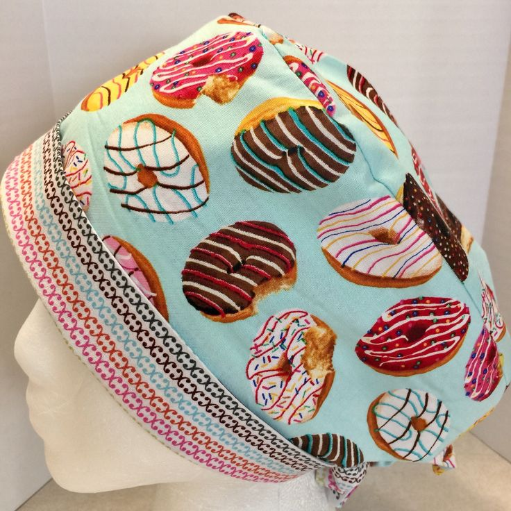 Scrub Cap, Scrub Hat, Scrub Cap for Women, Scrub Hat for Women, Donuts Pixie Scrub Hat by TrendySurgicaps on Etsy https://www.etsy.com/ca/listing/561730812/scrub-cap-scrub-hat-scrub-cap-for-women
