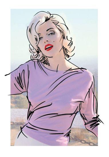art - par Dennis Mukai - Divine Marilyn Monroe