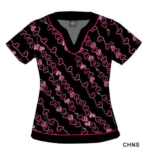 Wild Kingdom Scrubs | Baby Phat 26885C women's scrub top - scrubadoo.com - scrubs & uniforms