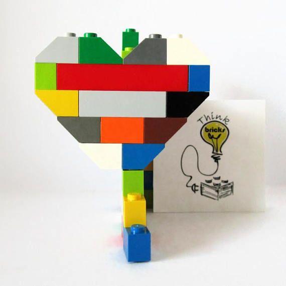 Multicolour Friendship Brooch Gift made from LEGO Bricks!