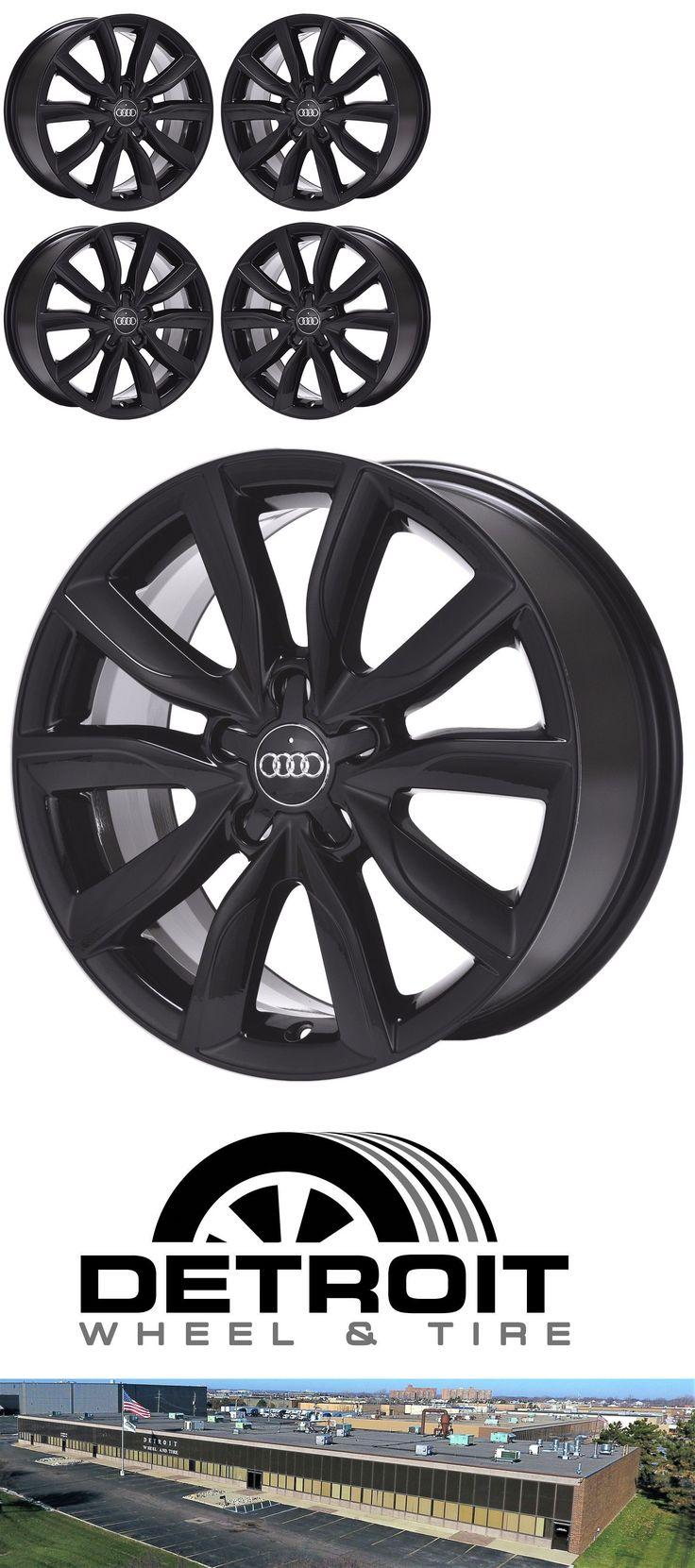 auto parts - general: 17 Audi A3 A4 A6 Tt Black Wheels Rims Factory Oem Set 4 58832 -> BUY IT NOW ONLY: $569.05 on eBay!