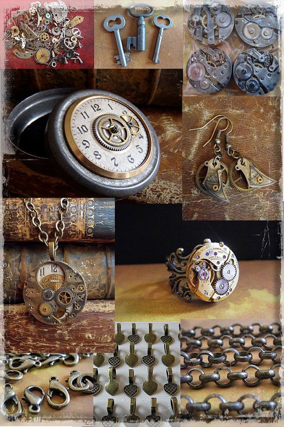 How to create Steampunk Jewelry Tutorial DVD set by steampunkjunk