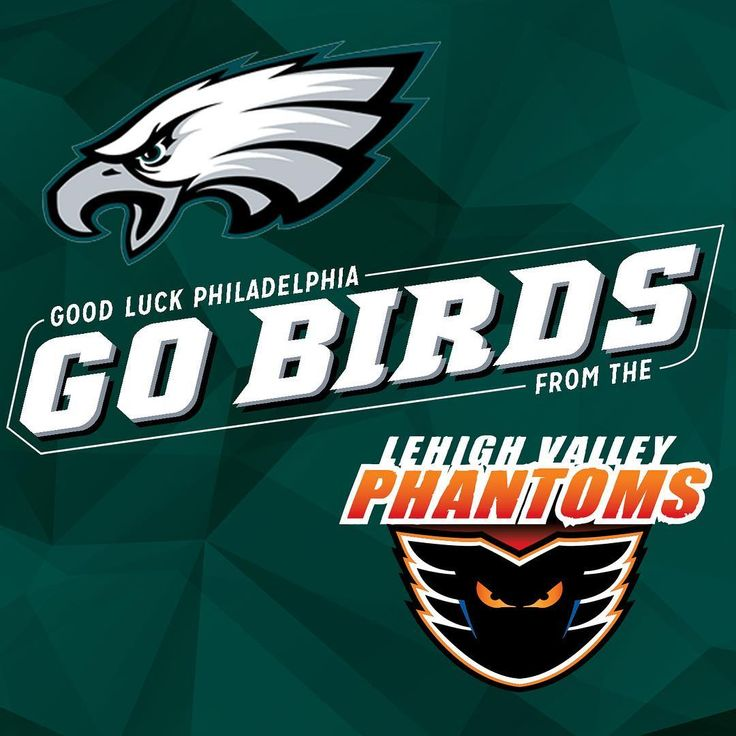 On behalf of the entire Lehigh Valley Phantoms and PPL Center organizations we want to wish the best of luck to the @philadelphiaeagles in Super Bowl LII. Fly Eagles Fly!  #LehighValley #Phantoms #AHL #LehighValleyPhantoms #LVPhantoms #IceHockey #Hockey #PhiladelphiaFlyers #Philadelphia #Flyers #NFL #SuperBowl #SuperBowlSunday #SuperBowlLII #Football # #Football #FlyEaglesFly #PhiladelphiaEagles #Eagles #BrotherlyLove
