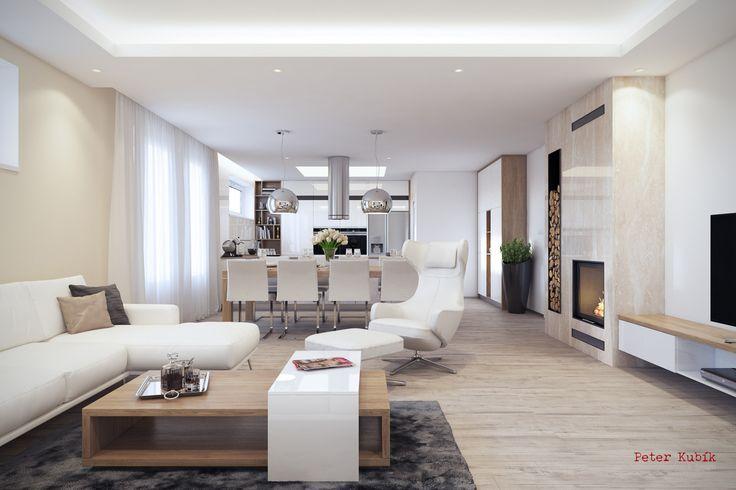Luxusná svetlá obývačka