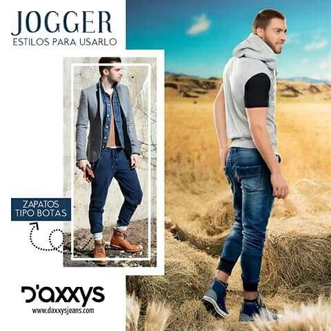 Con tus jeans Jogger podrás verte innovador, utilízalos con zapatos tipo botas y dóblalos hacia arriba para marcar la diferencia.