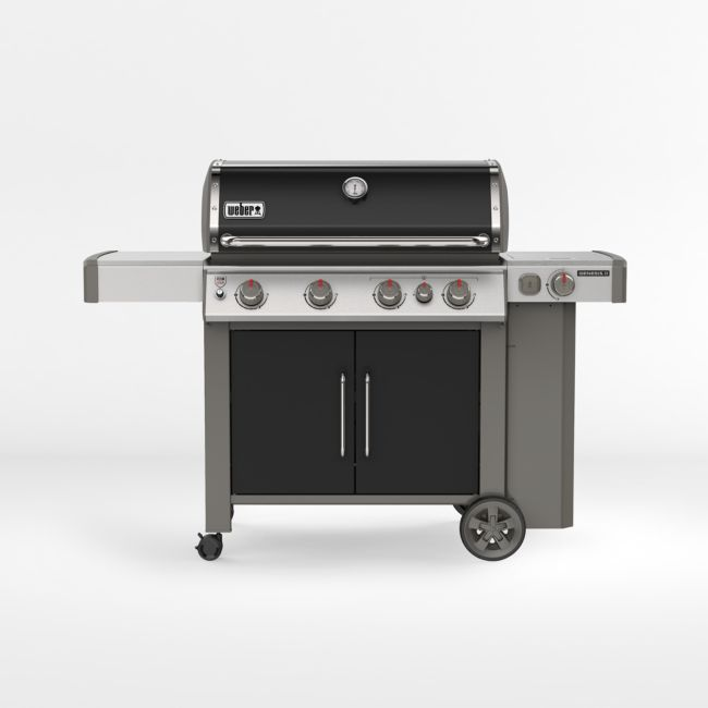 Weber Genesis Ii E 435 Lp Black Gas Grill Crate And Barrel In 2020 Gas Grill Grilling Best Gas Grills