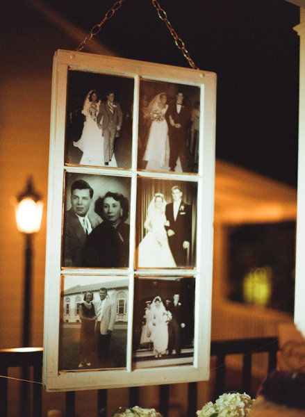 Generations of wedding pictures in a frame together