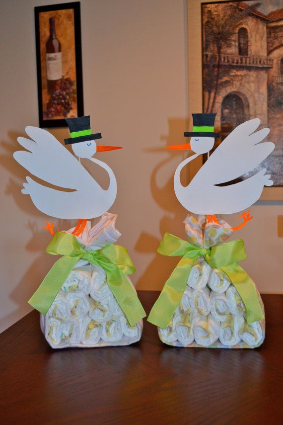 Stork Diaper Cake Made to Order for Any by PandanasCreations, $20.00