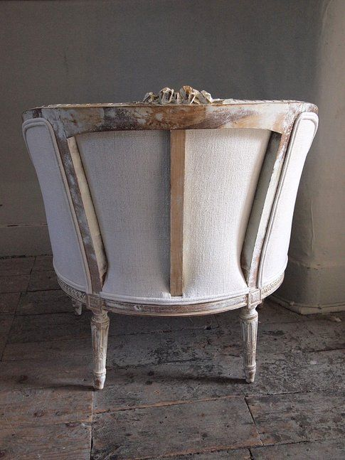 French Antique Tub Chair-I have a bit of a weakness and a pre-hoarding disposition for French chairs.