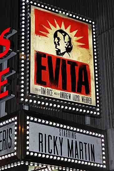 EVITA on Broadway starring Ricky Martin / #evita #musical #lauramorganmusic #broadway / Seen on: http://www.broadway.com/shows/evita-broadway/photos/you-must-love-them-check-out-photos-of-evitas-first-preview/171697/evita