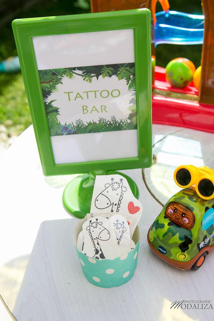 anniversaire safari jungle party inspiration decoration tattoo bar animaux animation activité fete enfant tut tut vtech maman blogueuse blog photo by modaliza photographe
