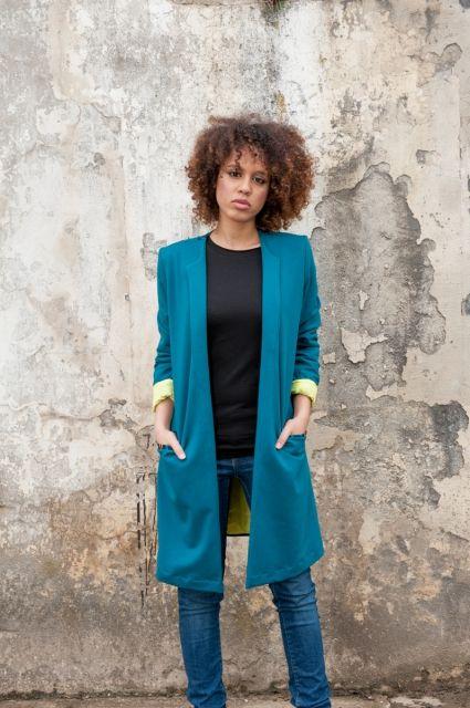 Marynarka Ethno on my back Lime |www.kokoworld.pl #kokoworld #handmade #jacket #lime