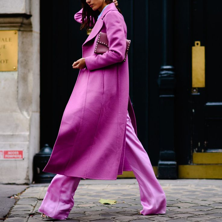 Make like the #streetstyle stars and wear vibrant matching hues for a winning combination. - @ www.mytheresa.com