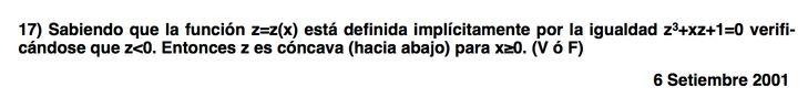 Ejercicio 17.  Ejercicio propuesto en el Examen de Matemática 1 de ADE, ULL el  6 Setiembre 2001. Si quieres su solución, por 1 euro, solicítala por WhatsApp 667824244, acepto PayPal, Twyp, bitcoin (otra opción consultar) Servicio en prueba.