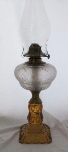 Antique Adams & Son Moon & Stars Oil Lamp