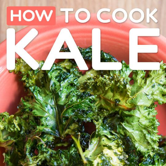 How to Cook Kale- learn how to bake it, boil it, steam it & prepare it raw.