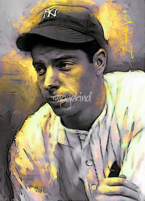 """Joe+DiMaggio++Art+by+Edward+Vela""+by+Edward+Vela,+Washington+//++//+Imagekind.com+--+Buy+stunning+fine+art+prints,+framed+prints+and+canvas+prints+directly+from+independent+working+artists+and+photographers."
