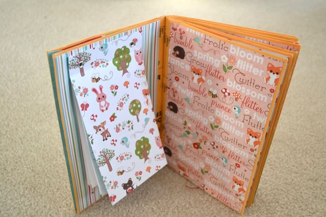 Scrap'Books' Tutorial PART II - varied decorations... and she glued notepads to the flat/empty pockets :)