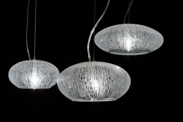 Lustre Sked décor herbal -  3 globes