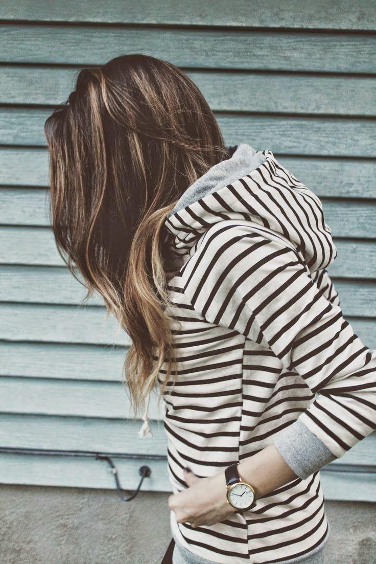 Stylish Striped Hoodie