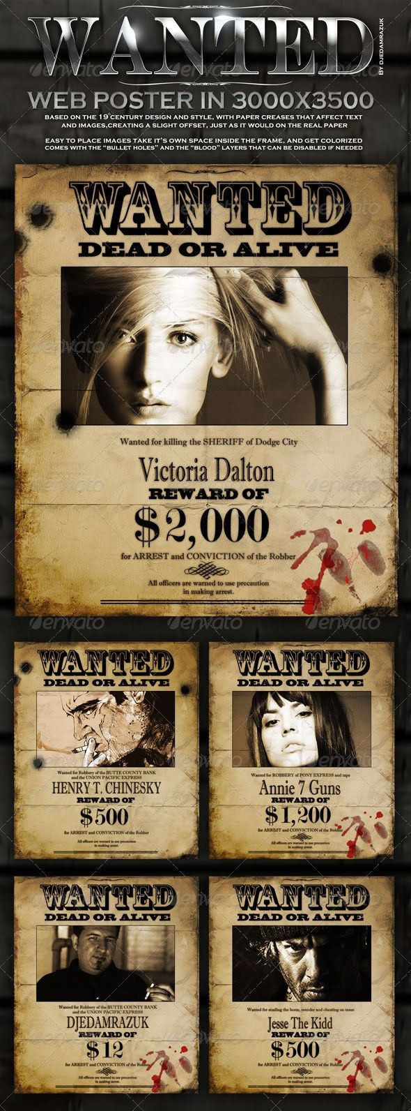 Poster design needed - 20 Best Wanted Poster Templates Psd Download Designsmag Org Web Design And Development