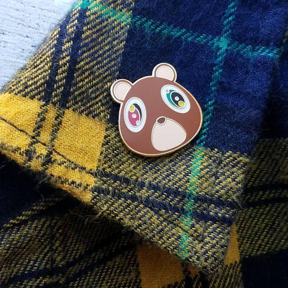 Kanye West Graduation Bear Murakami Yeezus Yeezy Tour Pin