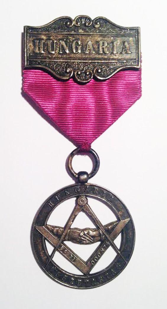 """Hungarian masonic medal """"Hungaria Összetartás"""" 1874"""