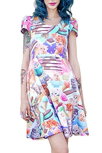 Kittens & ice cream equals pure happiness dress $75 #cute #harajuku #style #women #fashion #japan @kittypurring