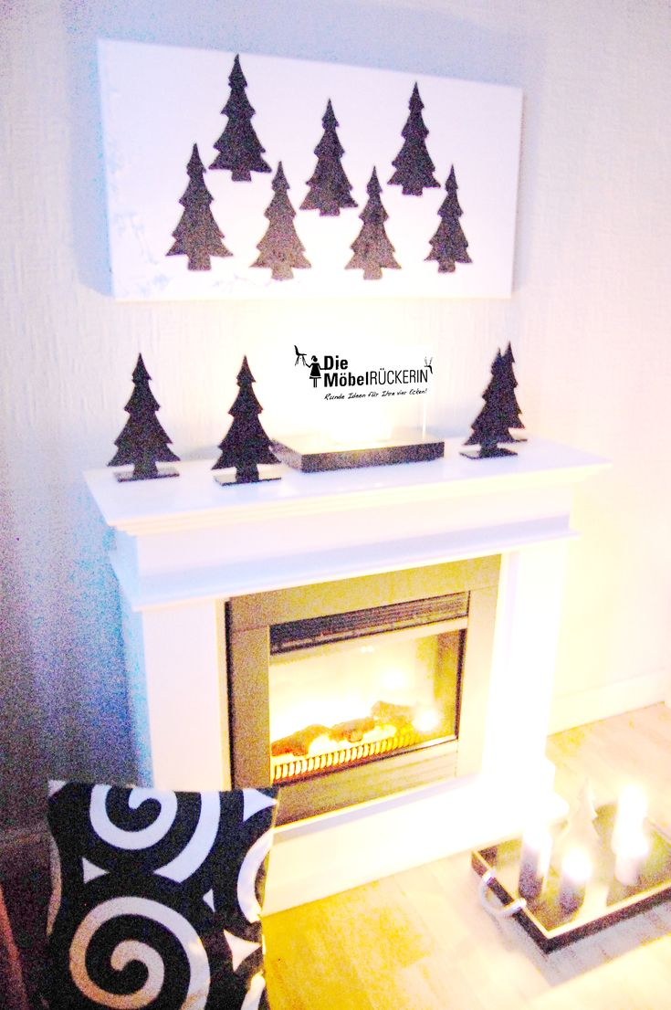 Ein Kamin Und Die Unterschiedlichsten Möglichkeiten In Weihnachtlich Zu  Dekorieren...die Minimalistische Variante