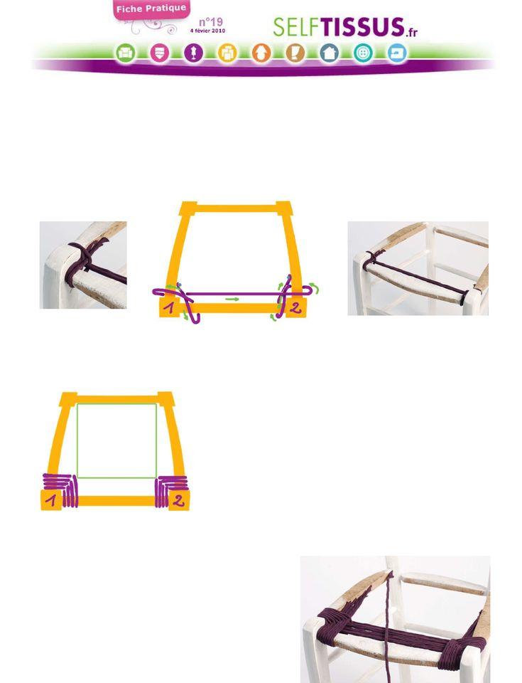 Comment Rempailler Une Chaise Video #15: Rempaillage » Du0027une Chaise Avec Du Tissu 2ème Partie : La Chaise Trapèze