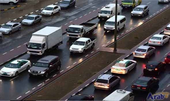 Rain causes chaos on Dubai roads