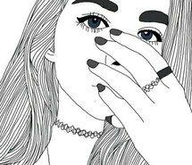 Inspirant de l'image art, noir et blanc, dessin, mode, fille #4562189 par loren@ - Résolution 500x423px - Trouver l'image à votre goût