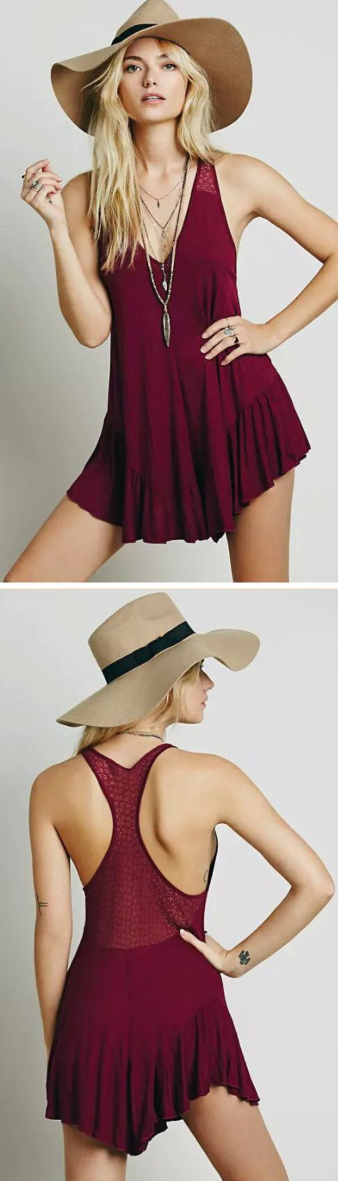 """When last-minute dinner plans ensue, this is the romper to have on hand to save you from the age-old """"what will I wear?"""" It will show your sex appeal and elegance completely. Pick it up from OASAP!"""