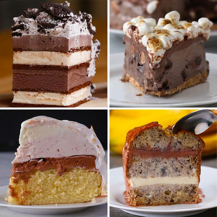 4 Amazing Ice Cream Cakes by Tasty