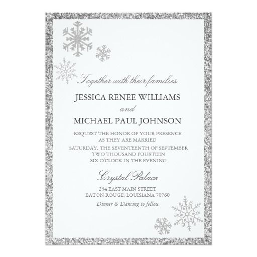283 Best Images About Winter Snowflake Wedding Invitations