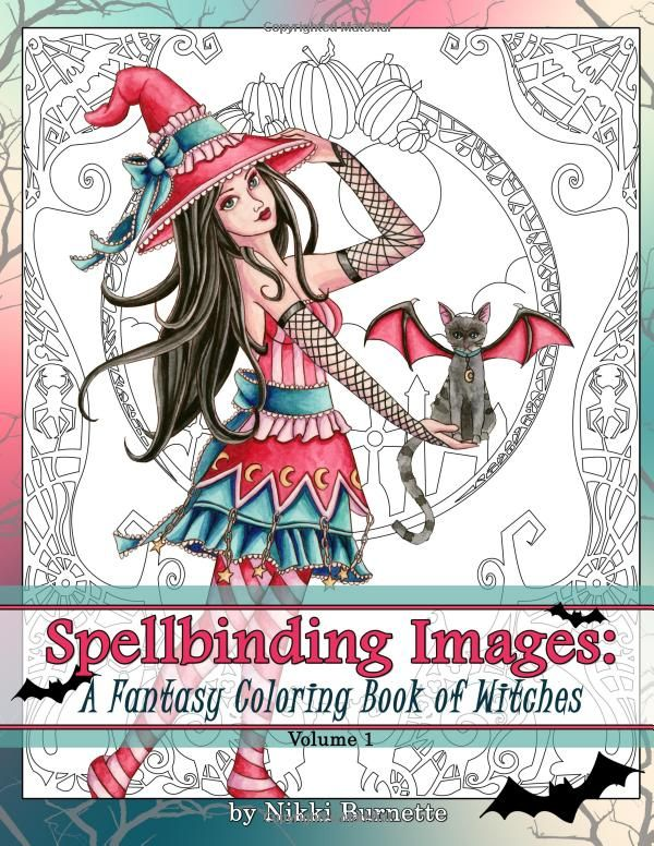 Spellbinding Images A Fantasy Coloring Book Of Witches Volume 1 Amazonco