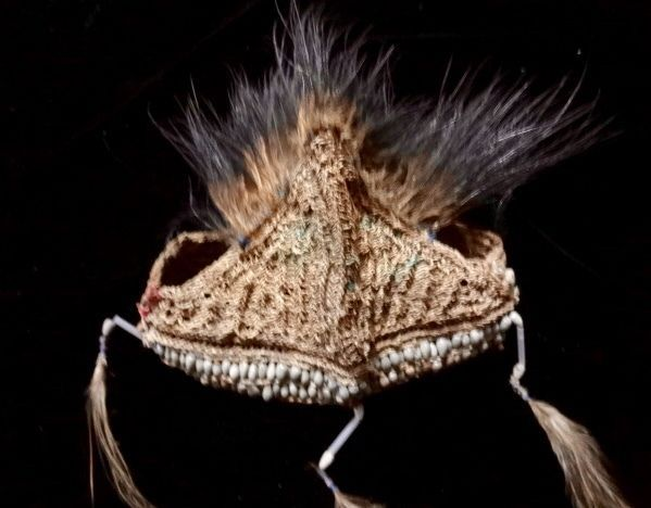 Primitive Headdress With Beads And Feather Tribal Asmat Papua Collectable Art #indonesianjeweler