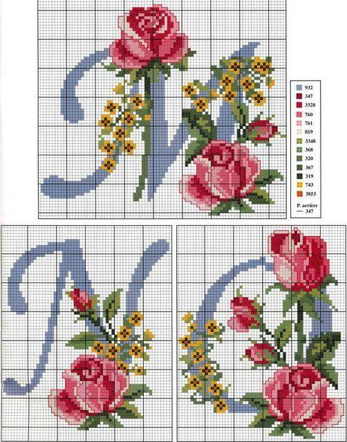 Schema punto croce Abc-rose-3
