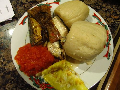 The only food that matters to me Kenkey, enkyenam, maaco, a kosia na ya kye... O and sardines....