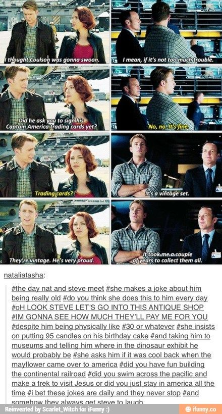 Natasha jokes about Steve's age