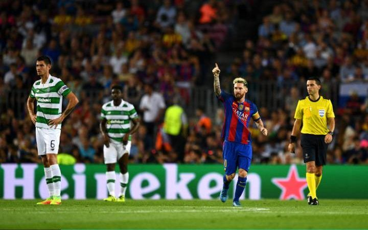 Tuesday 13th September, 2016: PSG 1 – 1 Arsenal Barcelona 7 – 0 Celtic Man City…