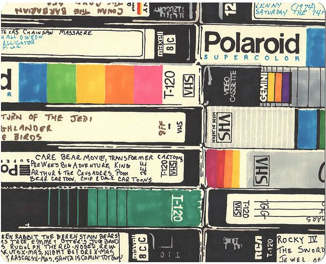 When we taped everything off TV