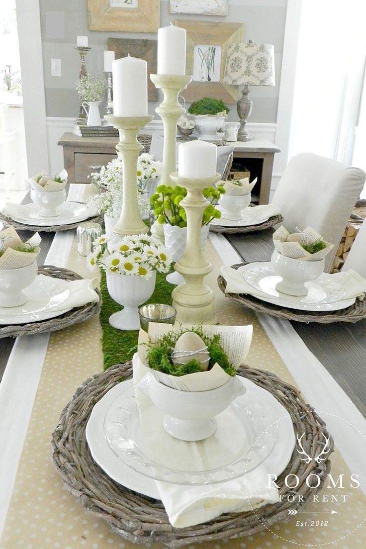 Easy Easter Table Decor Ideas And Wow Worthy Centerpieces Easter Table Centerpieces Easter Table Decorations Easter Table Settings