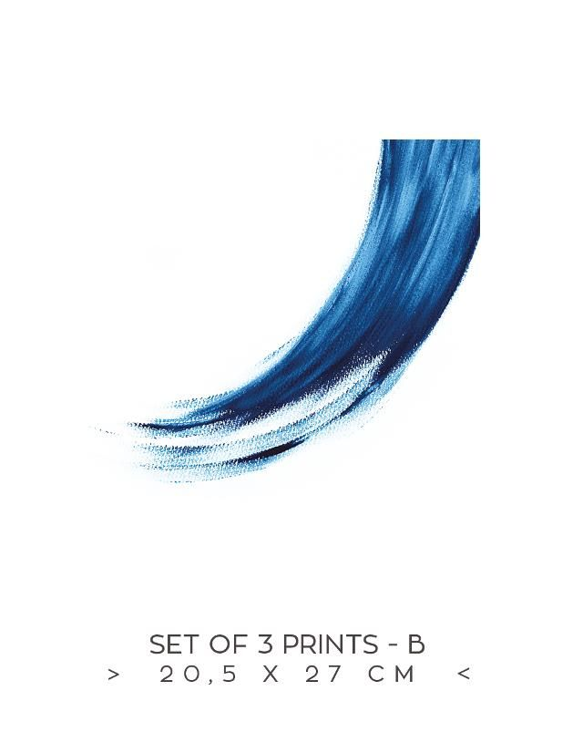 Wall decoration, Souvenir from Greece, Blue and white, Aegean sea, Greek design, Greek islands, Intense blue, Three prints set, wholesale inquires, The round button, » the Sea set of 3