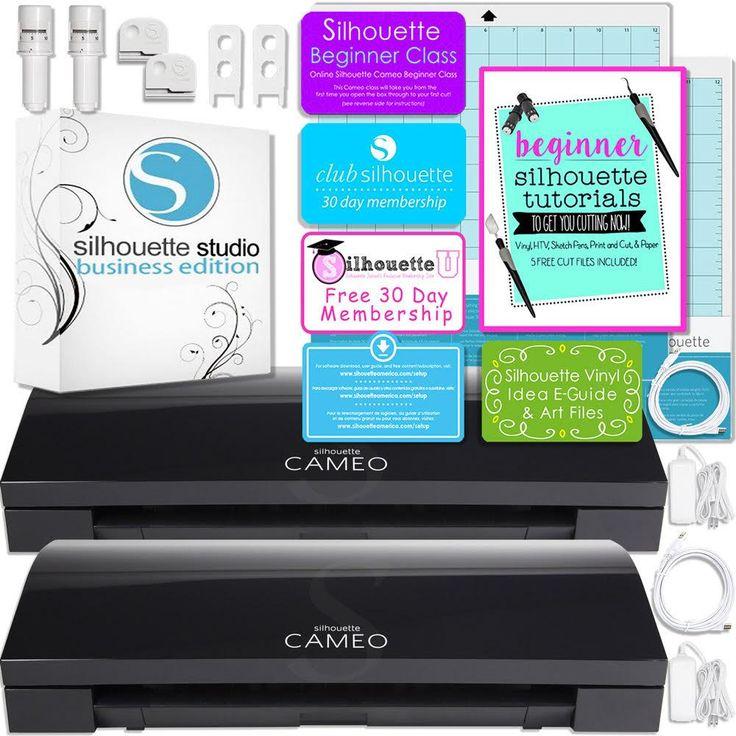 Silhouette Black Cameo 3 Bluetooth Business Bundle with TWO Black Cameo Machines and Silhouette Business Software