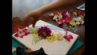 como decorar una rama seca con flores artificiales - YouTube