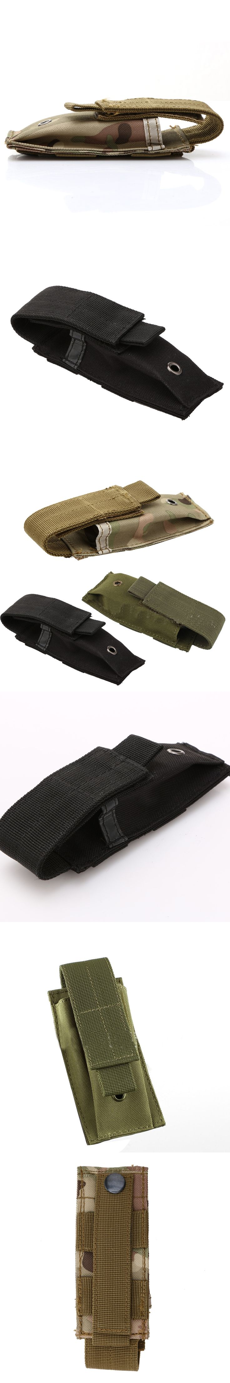Military Tactical Single Pistol Magazine Pouch Knife Flashlight Sheath Airsoft Hunting Ammo Molle Pouch Multifunction Bags New