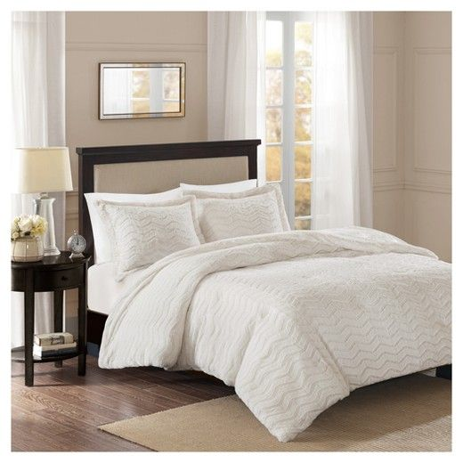 Add warmth and comfort to your bed with this Kaplan Brushed Long Fur Comforter Mini Set. The plush fabric is incredibly soft and features a chevron pattern for added texture and dimension. The set includes 1 comforter and 2 shams and is machine washable for easy care.