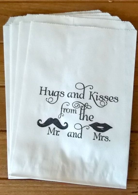 50 White retro 'Hugs and Kisses...' candy favor bags #navy & white retro wedding board... Wedding ideas for brides, grooms, parents & planners ... https://itunes.apple.com/us/app/the-gold-wedding-planner/id498112599?ls=1=8 … plus how to organise an entire wedding, without overspending ♥ The Gold Wedding Planner iPhone App ♥