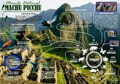 Infographic on the Natural World of Machu Picchu!  Great for Los indigenas unit.  Real world perspective on Machu Picchu